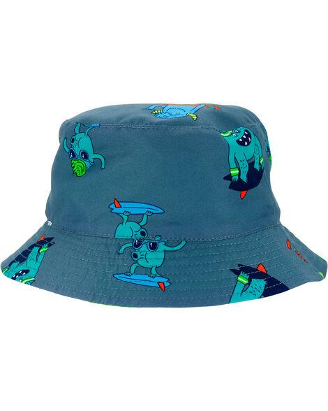 Chapeau cloche réversible à monstre surfeur