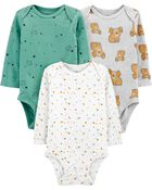 3-Pack Certified Organic Original Bodysuits, , hi-res