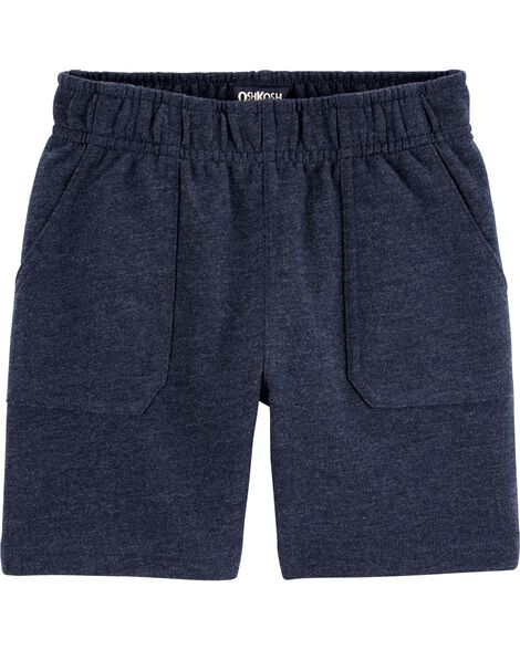 French Terry Pull-On Shorts