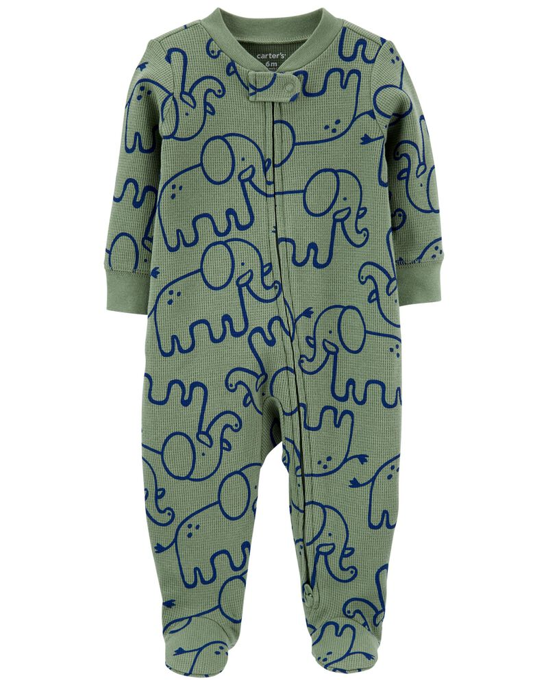 Elephant 2-Way Zip Cotton Sleep & Play, , hi-res
