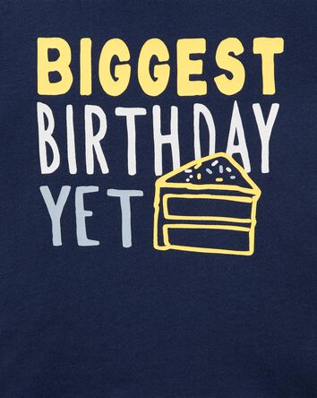 T-shirt en jersey Birthday