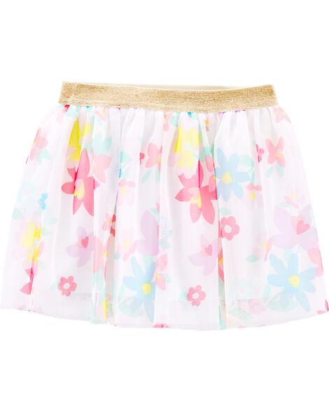 Glitter Floral Tutu Skirt