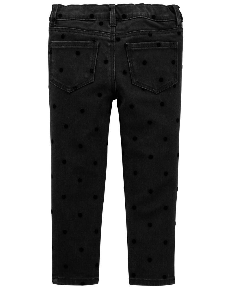 Velvet Dot Jeggings, , hi-res