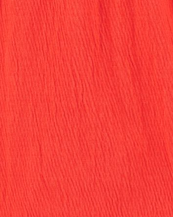 Lace Trim Ruffle Top