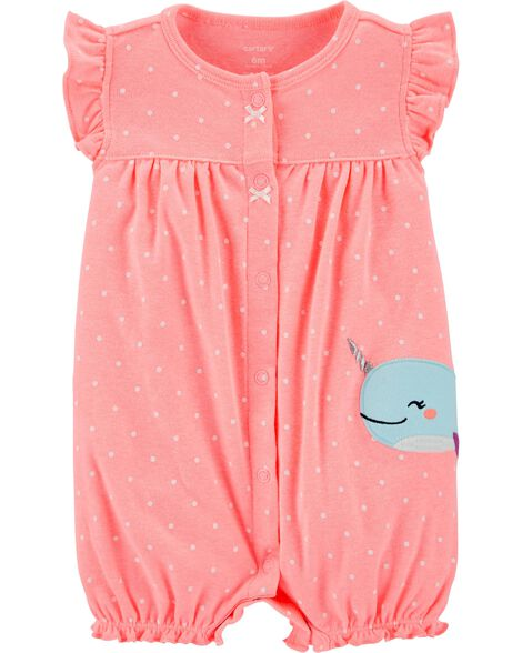 Narwhal Snap-Up Romper