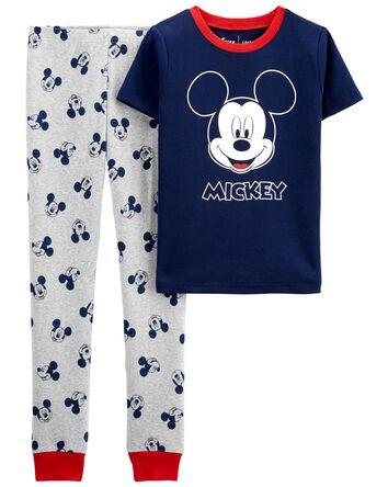 Pyjama 2 pièces en coton ajusté Mic...