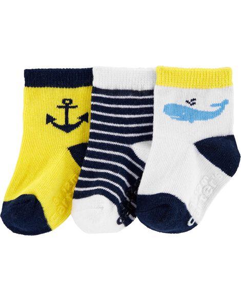 3-Pack Whale Crew Socks
