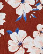 Ensemble 3 pièces t-shirt et robe chasuble fleurie, , hi-res