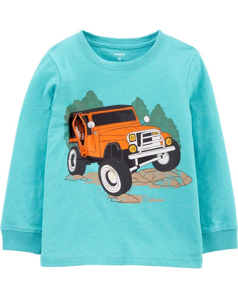 T-shirt chiné à camion, , hi-res