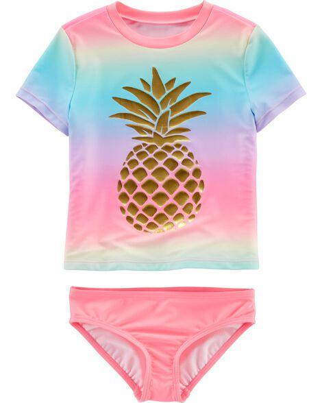 Pineapple 2-Piece UV Swim Shirt Set