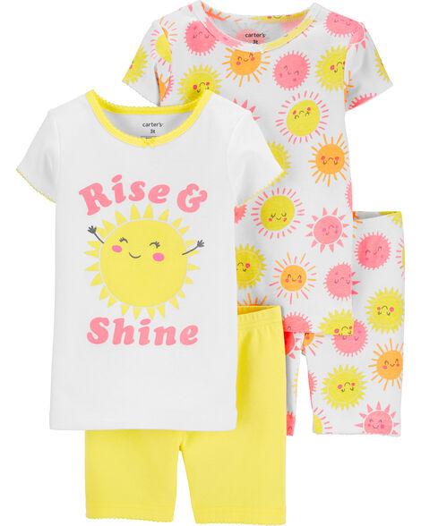 4-Piece Sun Snug Fit Cotton PJs