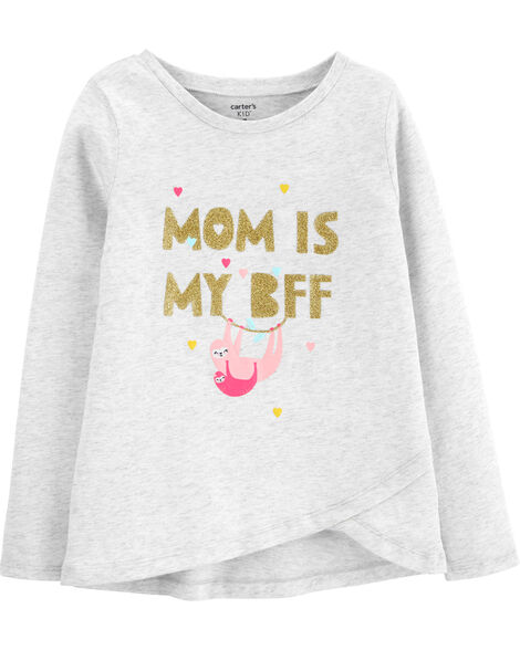 T-shirt en jersey maman paresseux scintillant