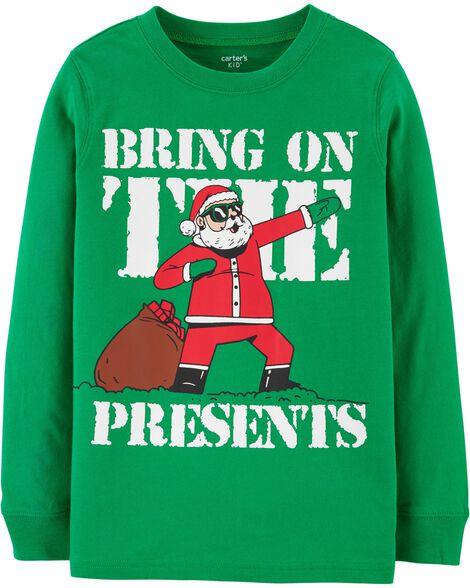 T-shirt en jersey Bring On The Presents Santa
