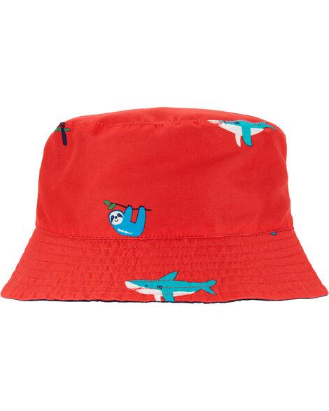 Reversible Sea Creature Print Bucket Hat