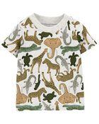 Ensemble 2 pièces t-shirt à tigre et salopette courte , , hi-res