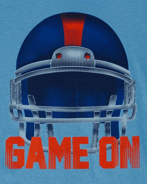 T-shirt en jersey à casque de football