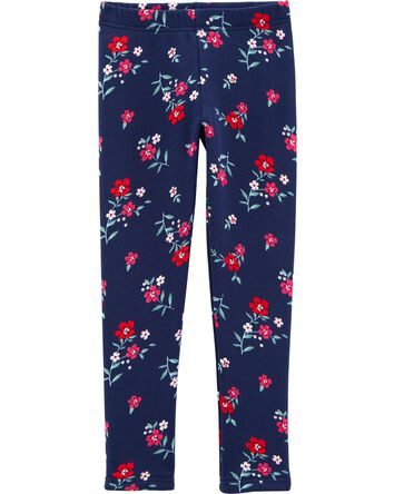 Floral Cozy Fleece-Lined Leggings