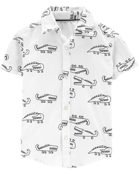 Chemise boutonnée à motif alligator