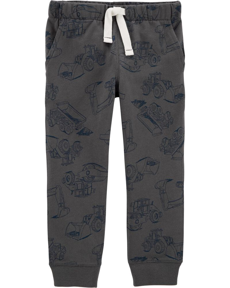 Construction Pull-On French Terry Joggers, , hi-res