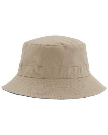 Chapeau cloche réversible à motif r...