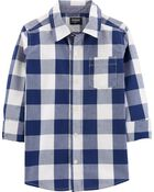 Buffalo Check Button-Front Shirt, , hi-res