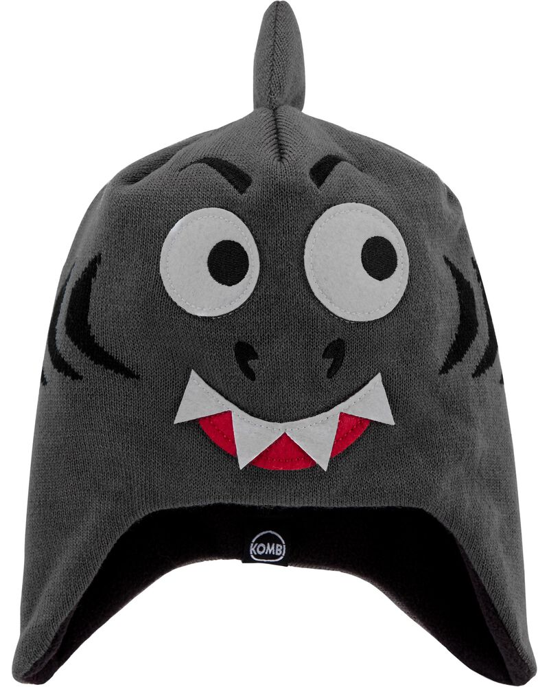 Kombi Fleece-Lined Spooky The Shark Knit Hat, , hi-res