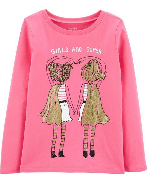 T-shirt en jersey Super Girls scintillant
