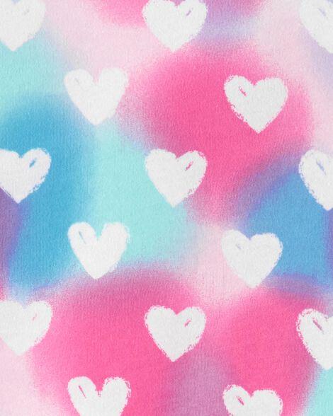 Rainbow Heart Peplum Top