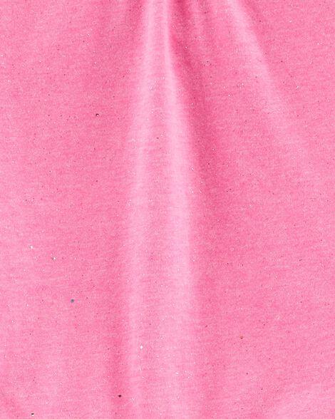 Glitter Ruffle Tulip Top