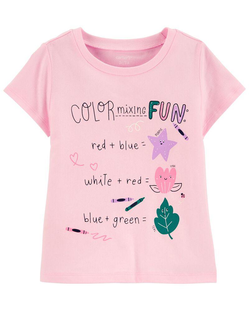 T-shirt en jersey mélange de couleurs, , hi-res