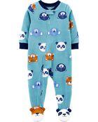 1-Piece Animal Fleece Footie PJs, , hi-res