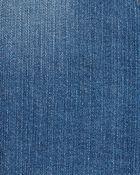 Robe chasuble en denim extensible à boutons devant, , hi-res