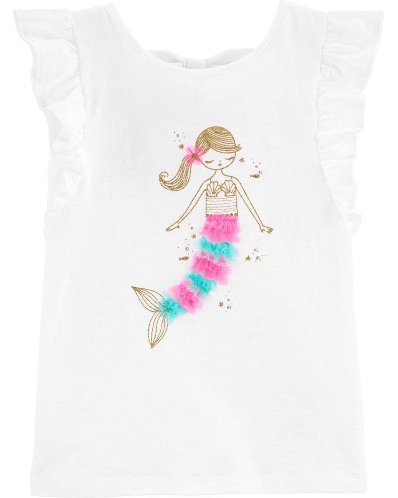 Glitter Mermaid Slub Jersey Tee, , hi-res