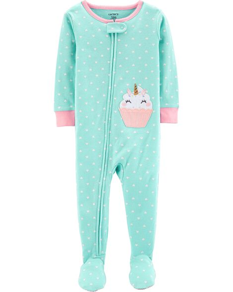 1-Piece Cupcake Snug Fit Cotton PJs