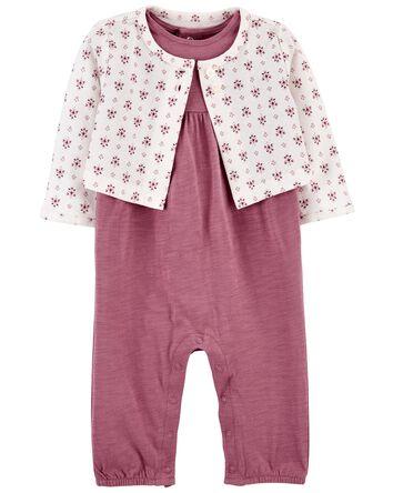 2-Piece Cardigan & Jumpsuit Set