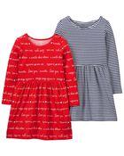 2-Pack Jersey Dresses, , hi-res