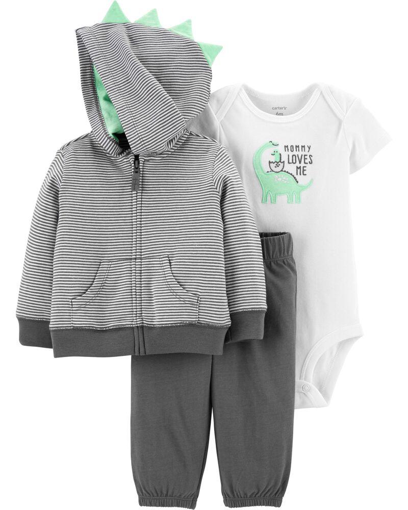3-Piece Dinosaur Little Jacket Set, , hi-res