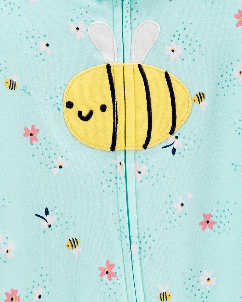 Bee 2-Way Zip Cotton Sleep & Play, , hi-res
