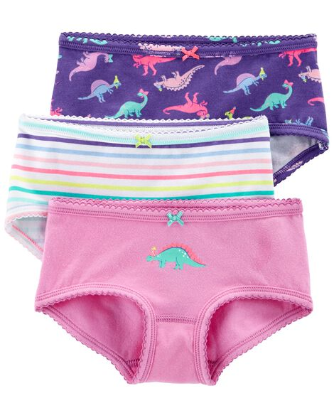3-Pack Neon Stretch Cotton Undies