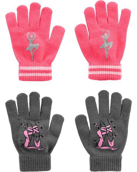 Emballage de 2 paires de gants à paume agrippante danse Kombi