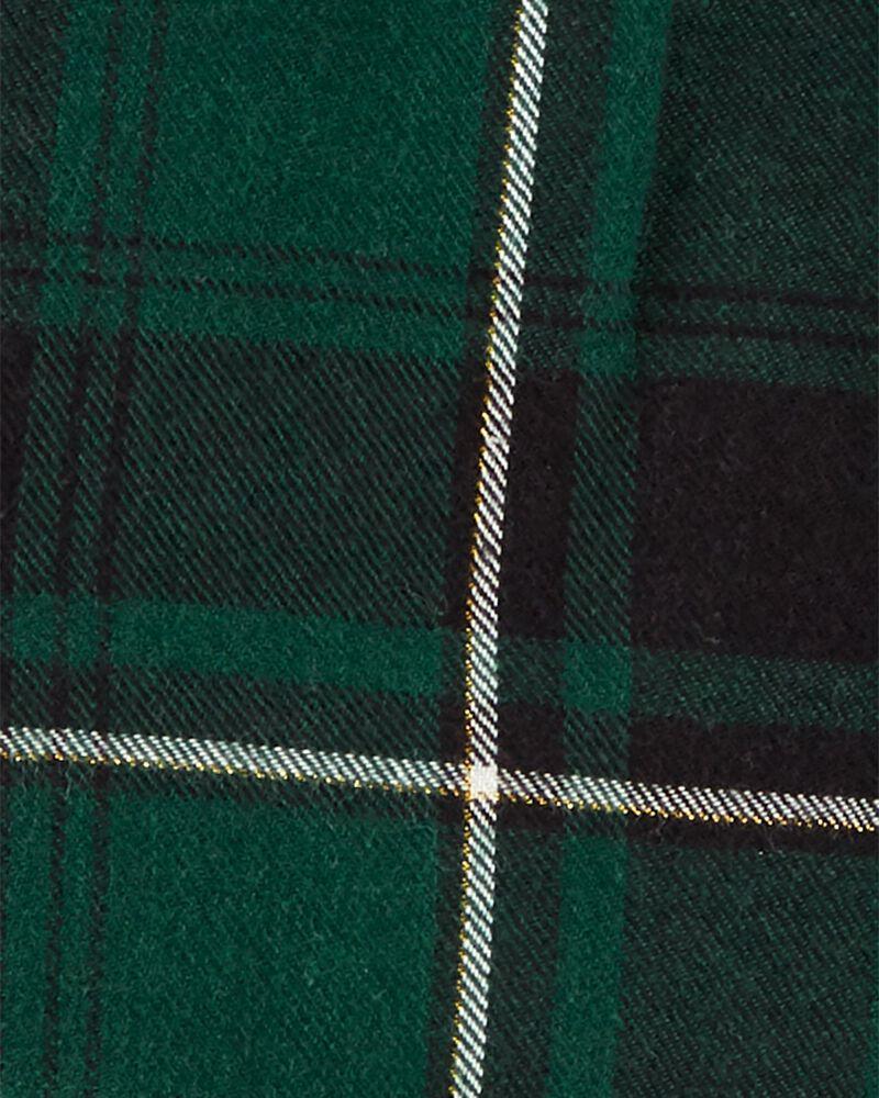 Ensemble 2 pièces chemise boutonnée à motif écossais et pantalon, , hi-res