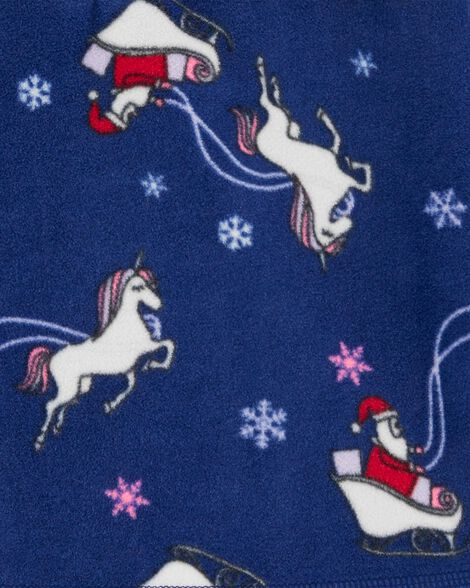 Christmas Unicorn B'gosh Fleece Cozie