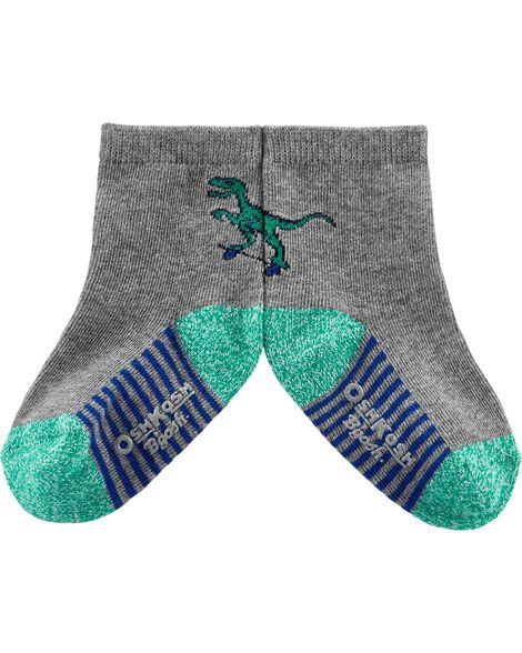 3 paires de chaussettes mi-mollet dinosaure