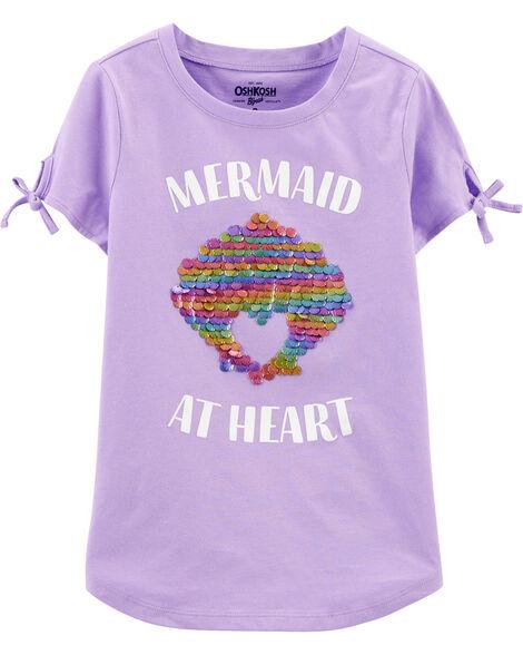 Mermaid Shell Sequin Tee