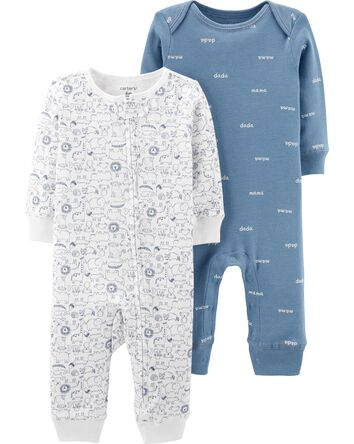 2-Pack Koala Jumpsuits