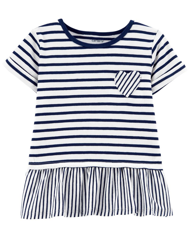 Striped Jersey Top, , hi-res