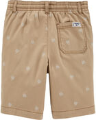 Shark Print Pull-On Shorts, , hi-res