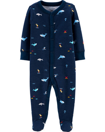 Ocean Life Snap-Up Cotton Sleep & P...