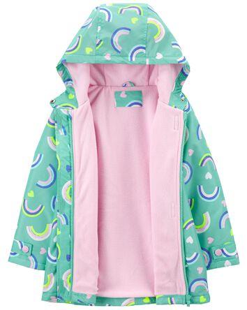 Fleece-Lined Rainbow Rain Jacket