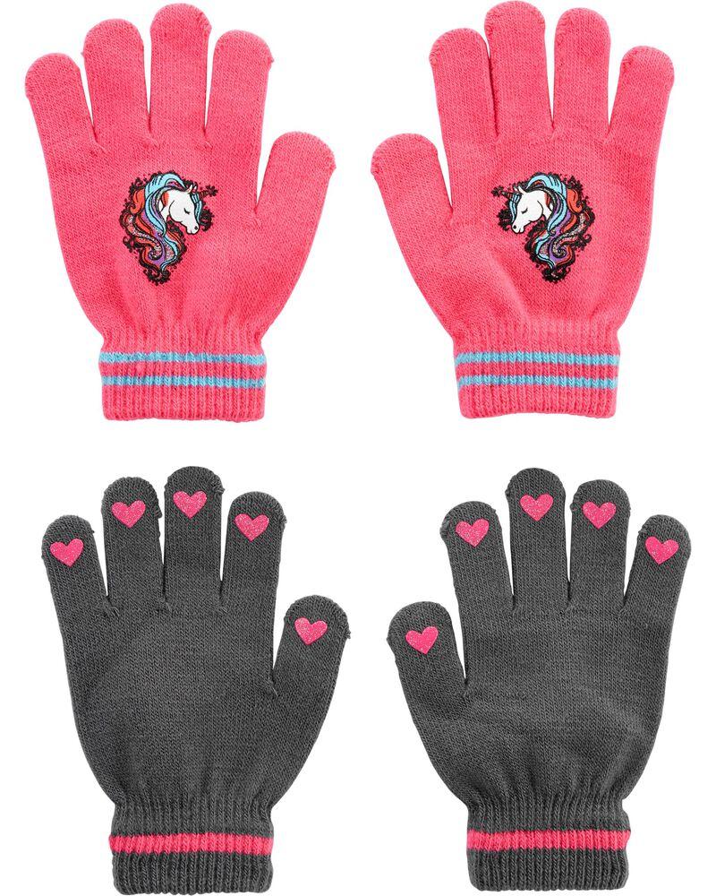 2 paires de gants licorne à paume antidérapante, , hi-res